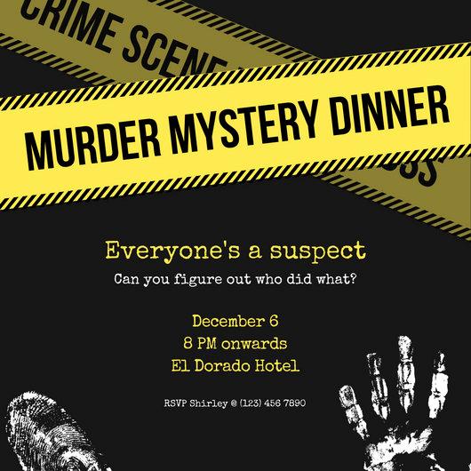 Murder Mystery Invitation Template Free Best Of Yellow Murder Mystery Invitation Templates by Canva