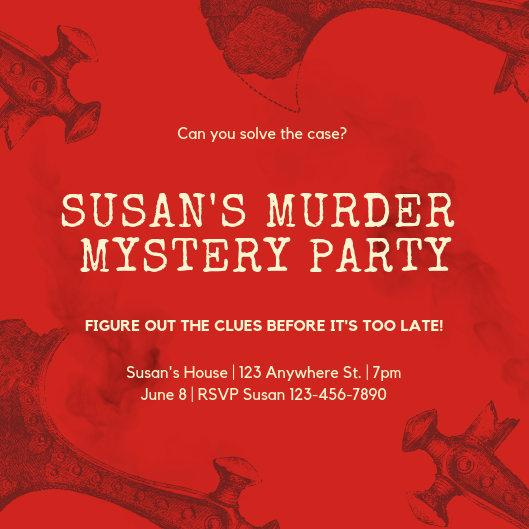 Murder Mystery Invitation Template Free Fresh Customize 288 Vintage Invitation Templates Online Canva