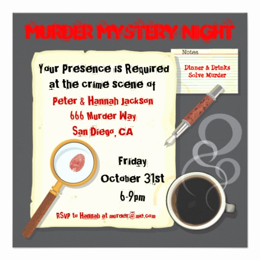 Murder Mystery Invitation Template Free Fresh Free Invitations for A Birthday Party