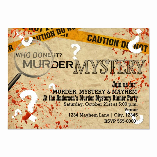 Murder Mystery Invitation Template Free Fresh Murder Mystery Dinner Birthday Party Invitations