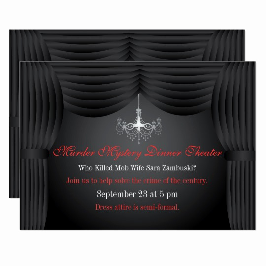 Murder Mystery Invitation Template Free Inspirational Murder Mystery Dinner theater Party Invitation