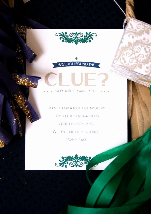 Murder Mystery Invitation Template Free Lovely Clue Mystery Party and Free Invitation Printable