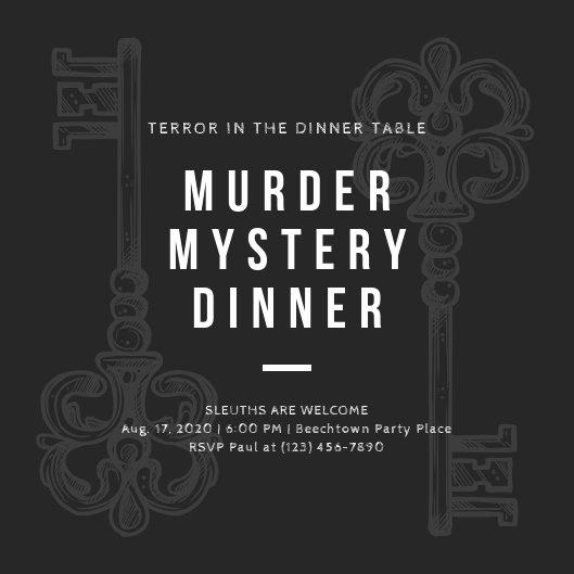 Murder Mystery Invitation Template Free Unique Customize 288 Vintage Invitation Templates Online Canva