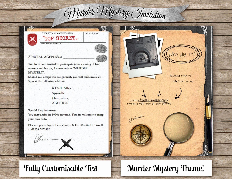Murder Mystery Invitation Template Free Unique Murder Mystery Dinner Invitation