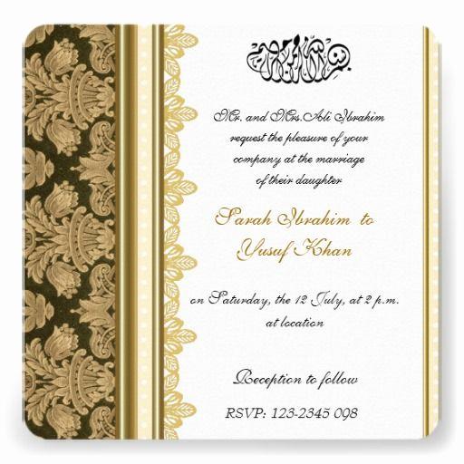 Muslim Wedding Invitation Wording Best Of the Best Muslim Wedding Invitations