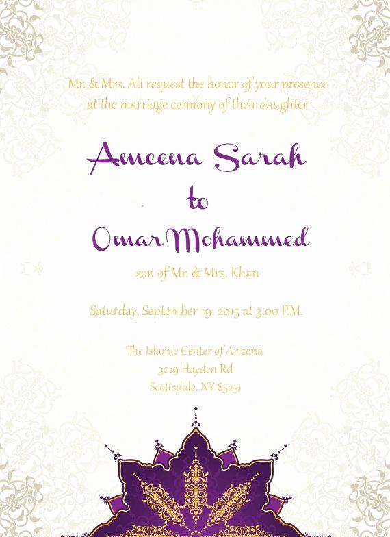 Muslim Wedding Invitation Wording Unique 9 Best Muslim Wedding Ceremony Wordings Images On