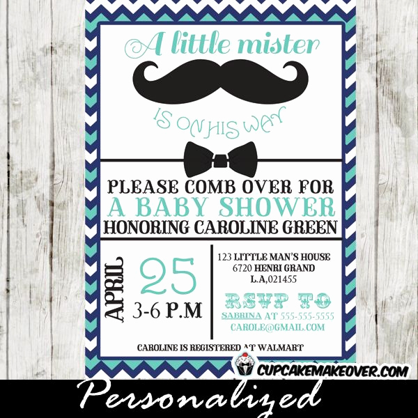 Mustache Baby Shower Invitation Awesome 18 Best Little Man Mustache Bow Tie Baby Shower