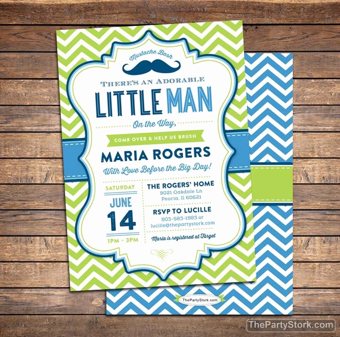 Mustache Baby Shower Invitation Awesome Little Man Baby Shower Invitation Mustache Baby Shower