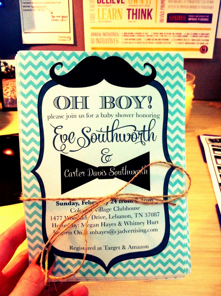 Mustache Baby Shower Invitation Beautiful 1000 Ideas About Mustache Baby Showers On Pinterest