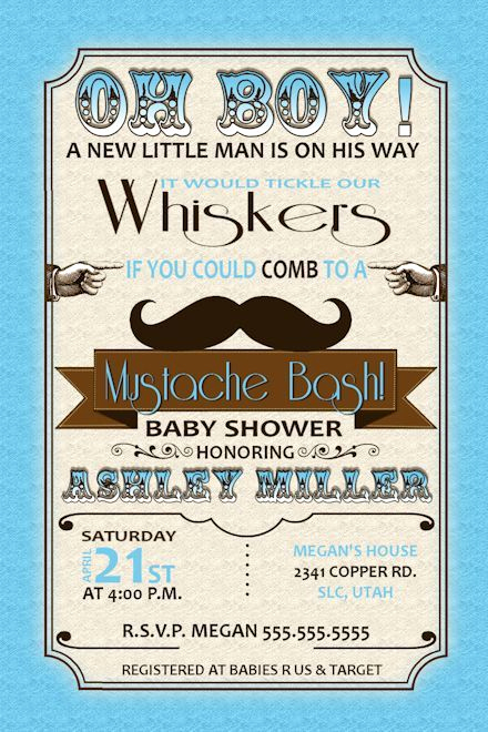 Mustache Baby Shower Invitation Best Of 1000 Ideas About Mustache Baby Showers On Pinterest