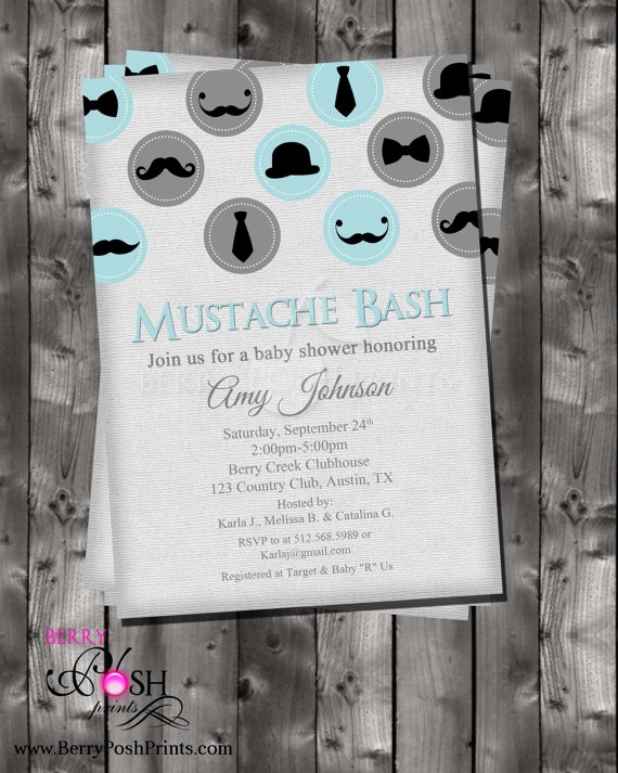 Mustache Baby Shower Invitation Fresh 86 Best Images About Mustache Baby Shower On Pinterest