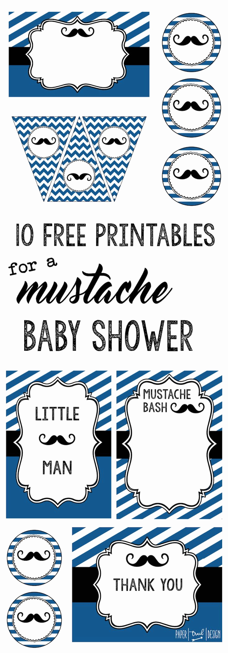Mustache Baby Shower Invitation Fresh Mustache Party 10 Free Printables