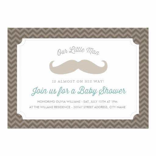 Mustache Baby Shower Invitation Inspirational Cute Mustache Baby Shower Invitation