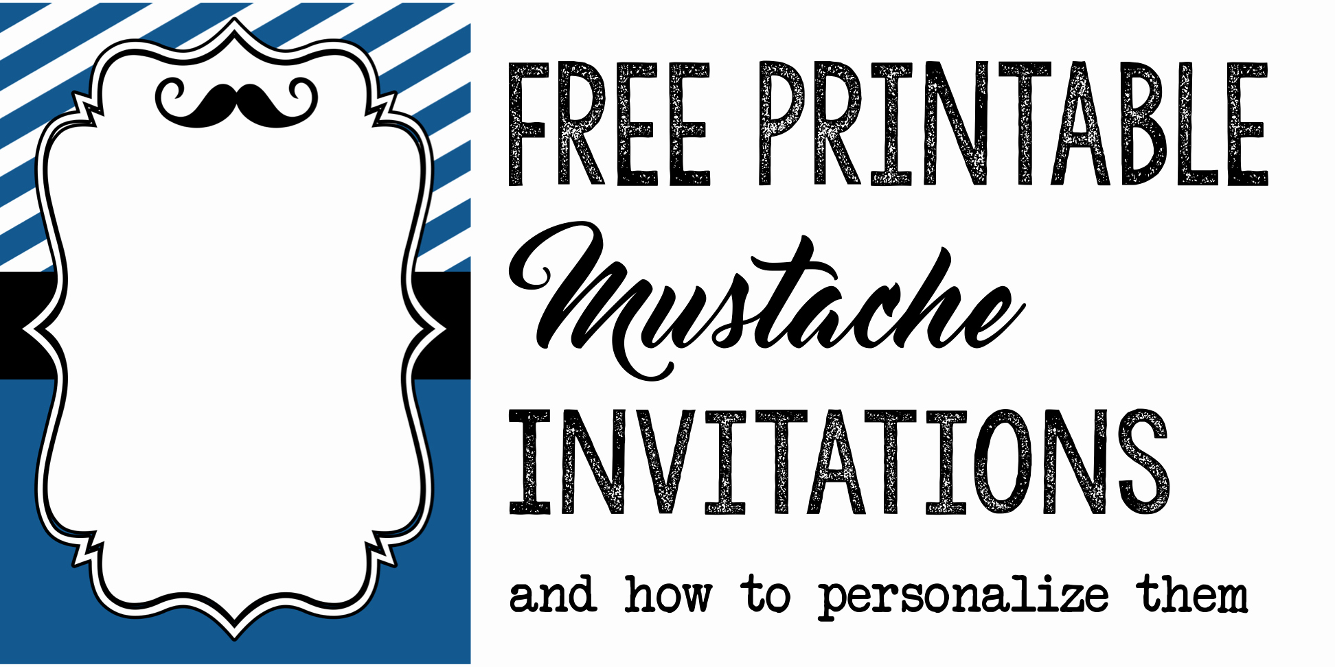 Mustache Baby Shower Invitation Templates Awesome Party Invitation Templates Free Printables Paper Trail