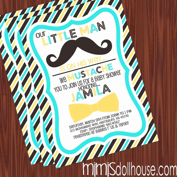 Mustache Baby Shower Invitation Templates Best Of 1000 Images About I Mustache You A Question On Pinterest