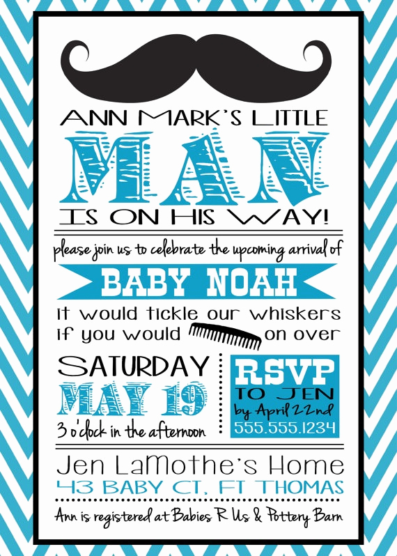 Mustache Baby Shower Invitation Templates Inspirational 25 Best Baby Shower Images On Pinterest