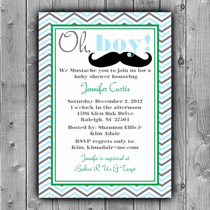Mustache Baby Shower Invitation Templates Inspirational 25 Best Ideas About Mustache Baby Showers On Pinterest