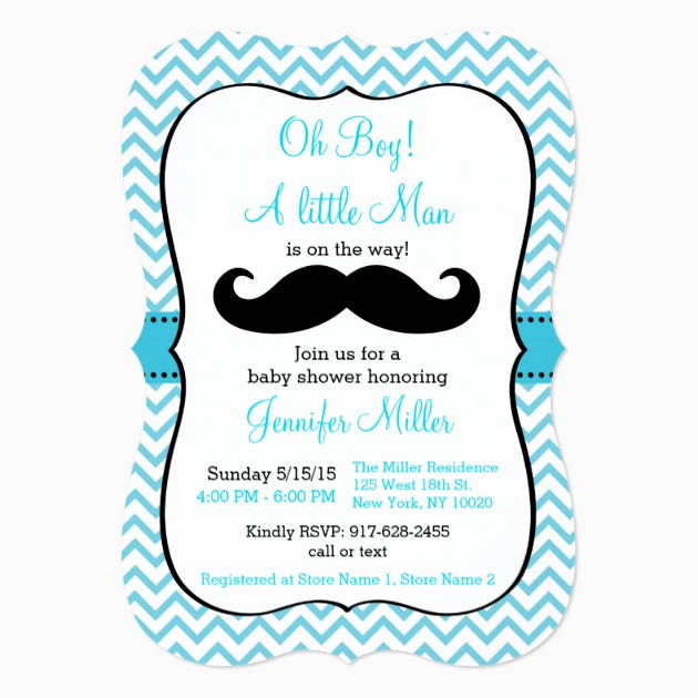 Mustache Baby Shower Invitation Templates Inspirational Custom Mustache Baby Shower Invitation Invites Templates