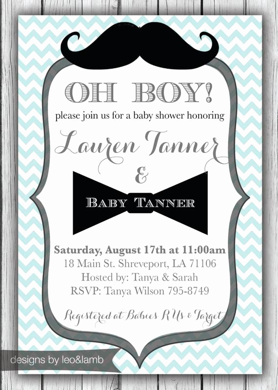 Mustache Baby Shower Invitation Templates Luxury Items Similar to Baby Shower Invitation for A Boy