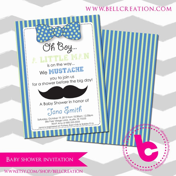 Mustache Baby Shower Invitation Templates Luxury Mustache Baby Shower Invitation Template