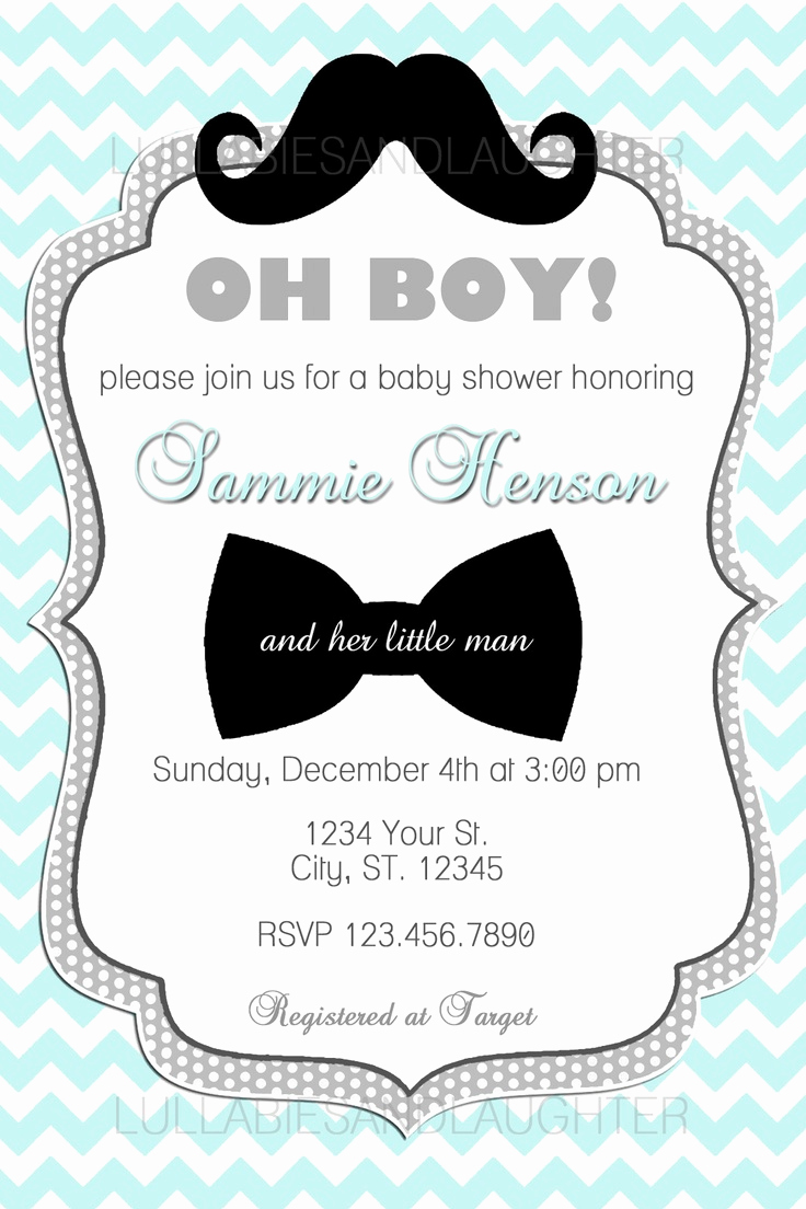 Mustache Baby Shower Invitation Templates New Custom Chevron Mustache Boy Baby Shower Invitation Digital