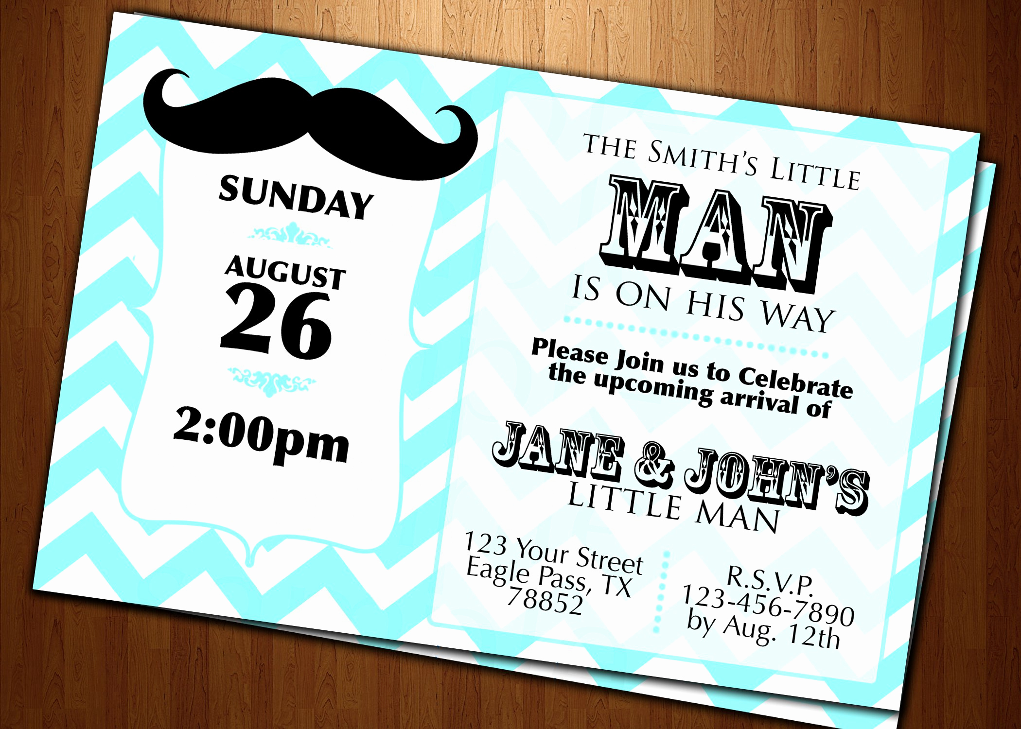 Mustache Baby Shower Invitation Templates New Mustache Baby Shower Invitations