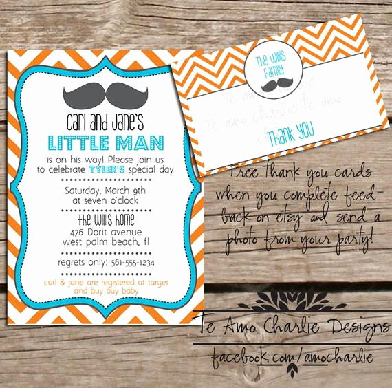 Mustache Baby Shower Invitation Templates Unique Printable Mustache Baby Shower Invitation Free by