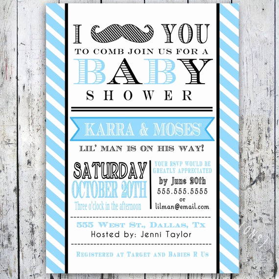 Mustache Baby Shower Invitation Unique Items Similar to Little Man Mustache Baby Shower