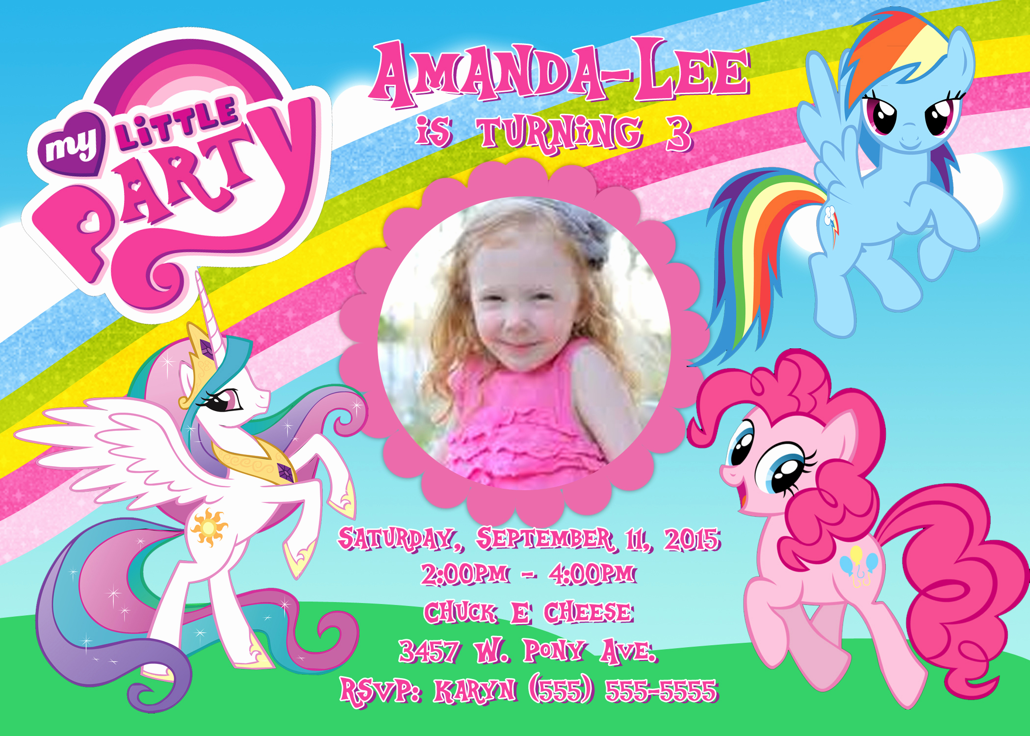 My Little Pony Birthday Invitation Awesome My Little Pony Birthday Invitation