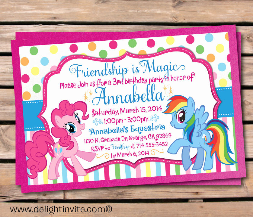 My Little Pony Birthday Invitation Awesome Updated Free Printable My Little Pony Birthday