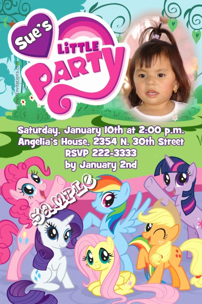 My Little Pony Birthday Invitation Elegant My Little Pony Party Birthday Invitations