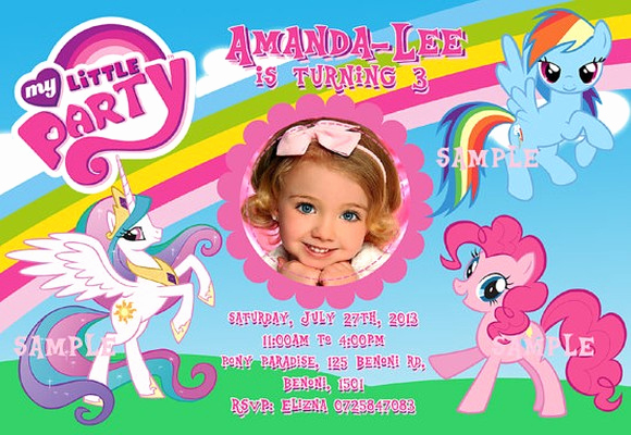 My Little Pony Birthday Invitation Inspirational My Little Pony Invitations