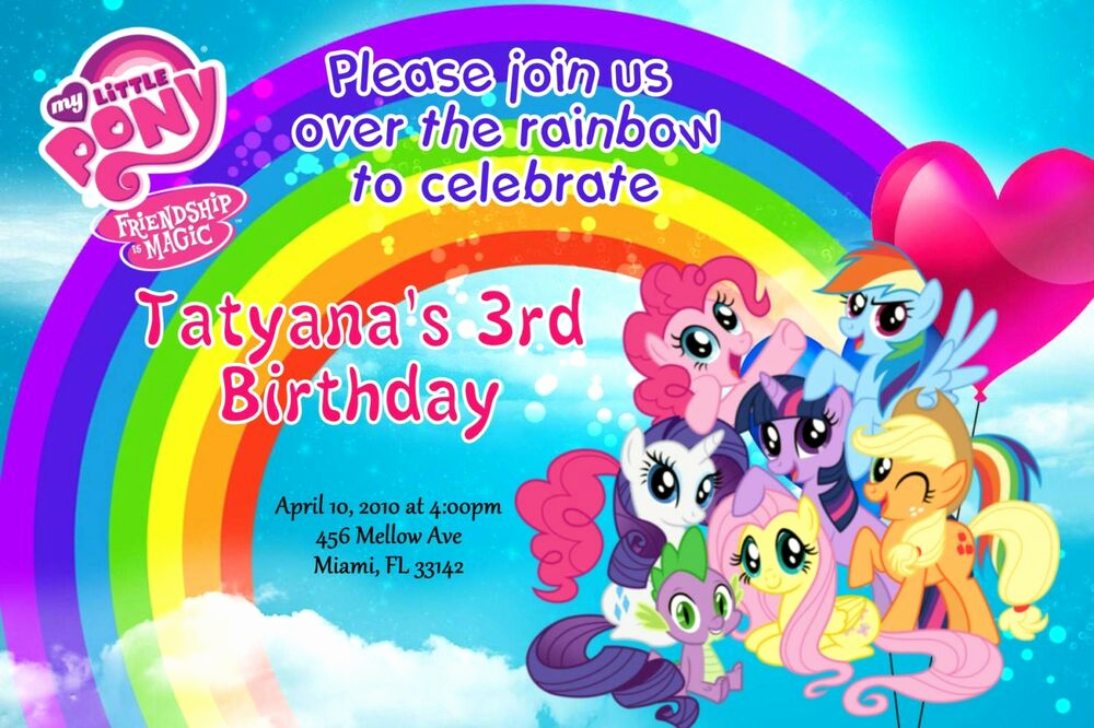 My Little Pony Birthday Invitation Lovely My Little Pony Birthday Invitation 24hr Service Uprint