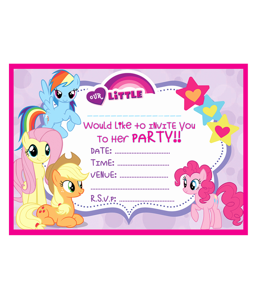 My Little Pony Birthday Invitation Lovely My Little Pony Birthday Party Invitations