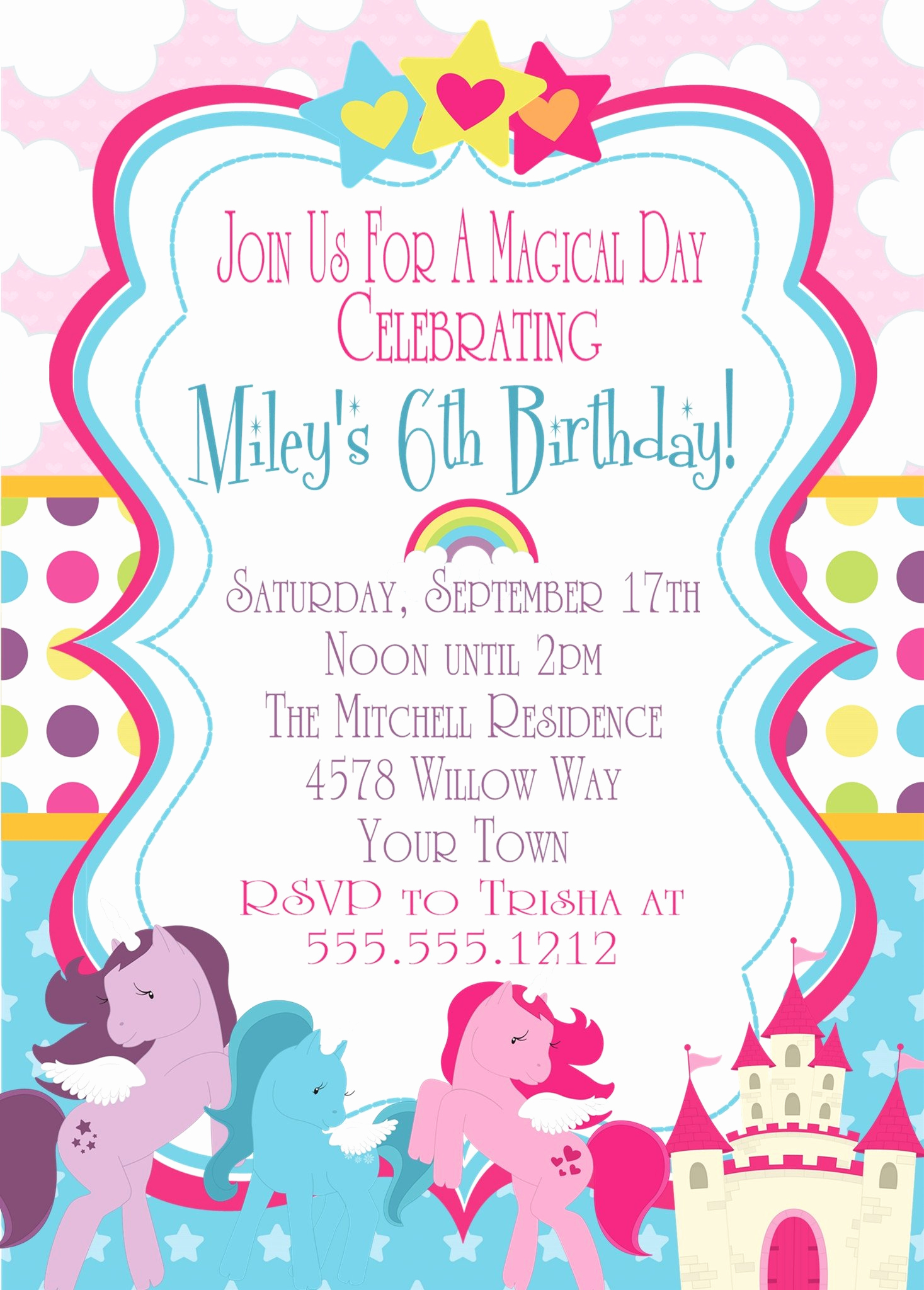 My Little Pony Birthday Invitation Lovely My Little Pony Birthday Party Invitations – Party Beautifully