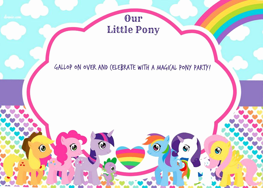 My Little Pony Birthday Invitation Luxury Free Printable My Little Pony Birthday Invitation Template