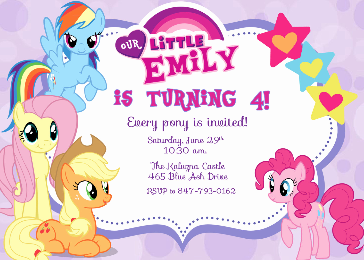 My Little Pony Birthday Invitation New Free Printable My Little Pony Birthday Invitations