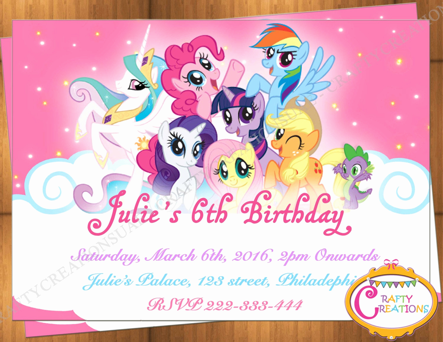 My Little Pony Birthday Invitation New My Little Pony Invitation My Little Pony Birthday Invitation