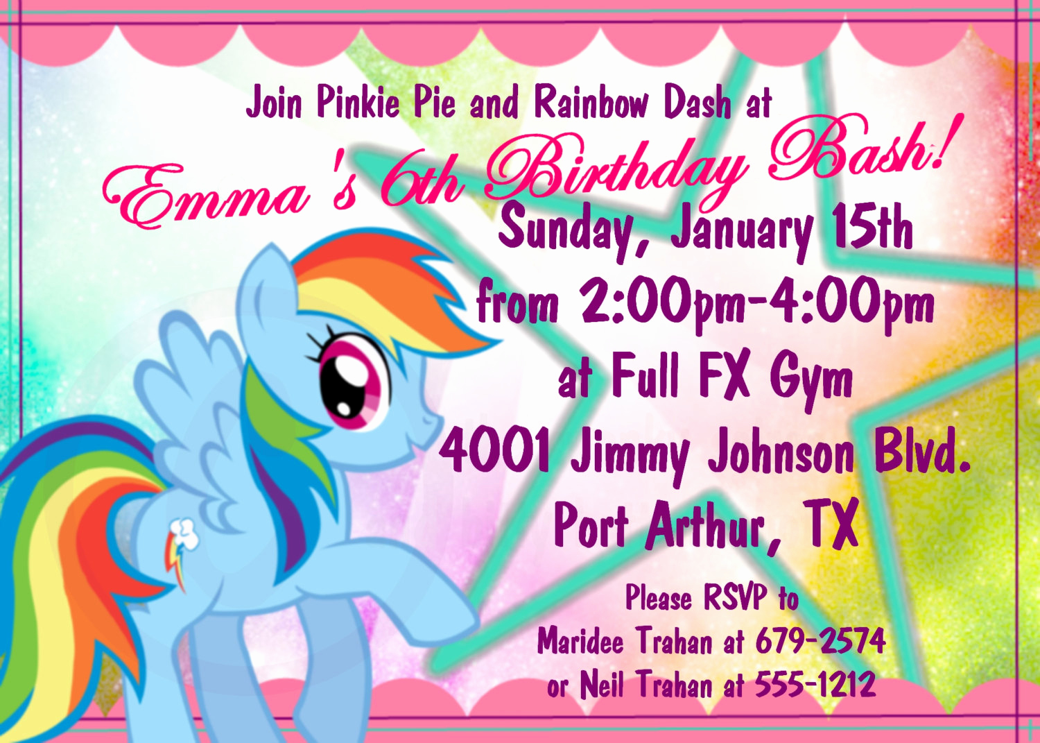 My Little Pony Birthday Invitation Unique Free My Little Pony Birthday Invitations Printable