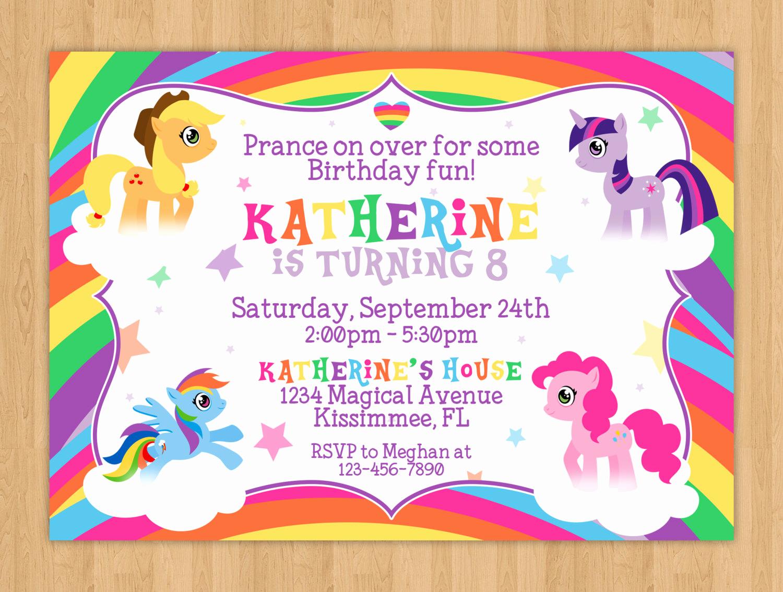 My Little Pony Invitation Awesome My Little Pony Birthday Invitation