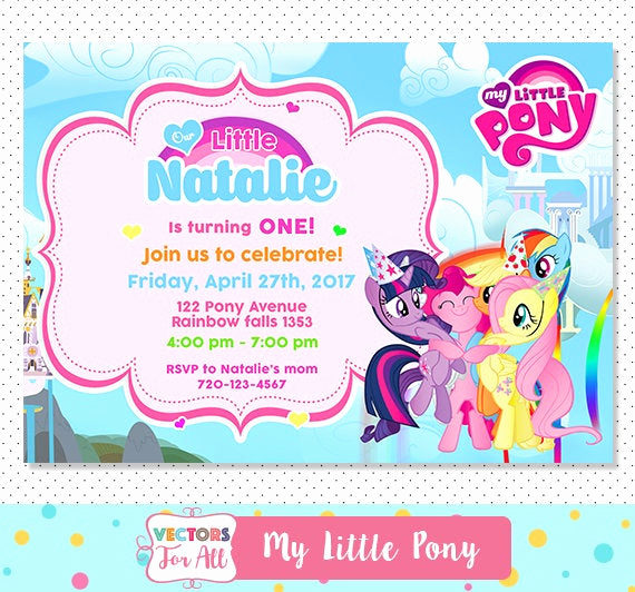My Little Pony Invitation Awesome My Little Pony Invitation My Little Pony Party My Little