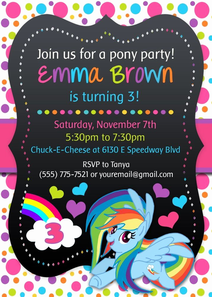 My Little Pony Invitation Beautiful My Little Pony Birthday Party Invitations Personalized