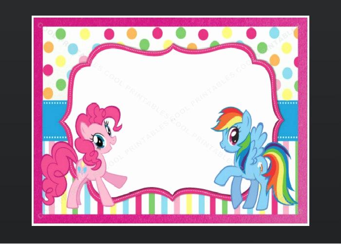 My Little Pony Invitation Beautiful My Little Pony Blank Invitation Birthday Thank by