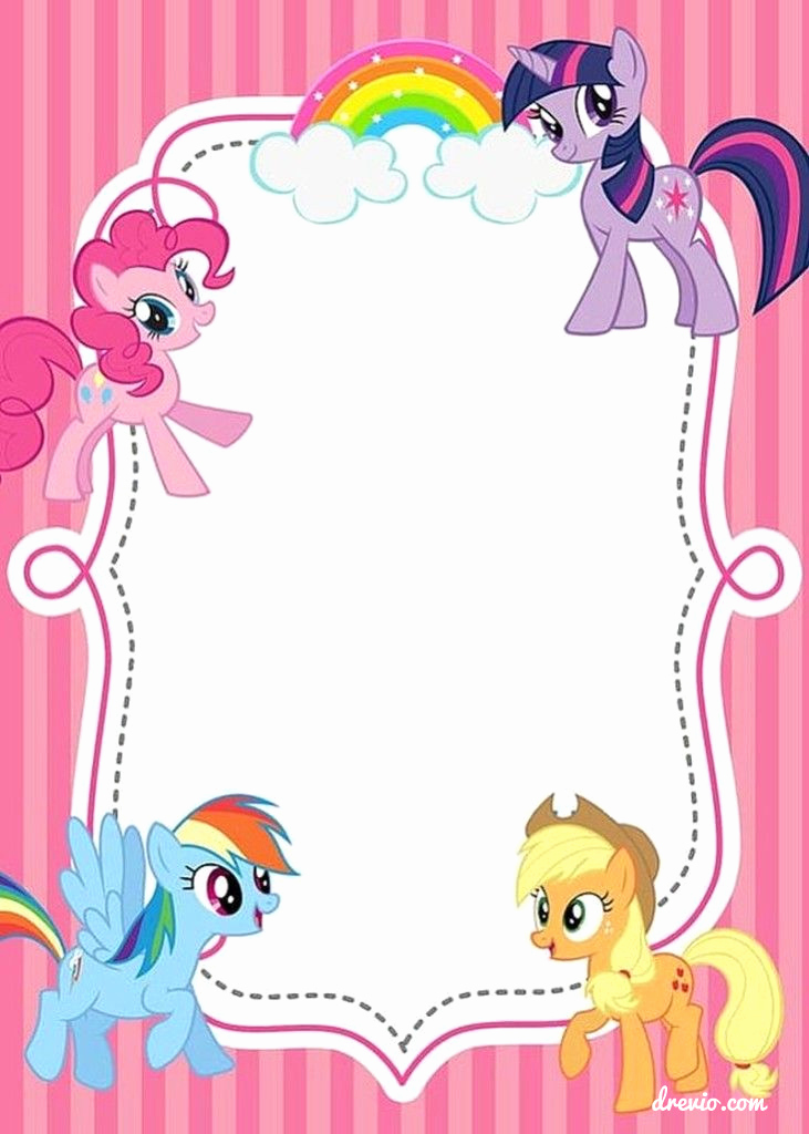 My Little Pony Invitation Beautiful Updated Free Printable My Little Pony Birthday