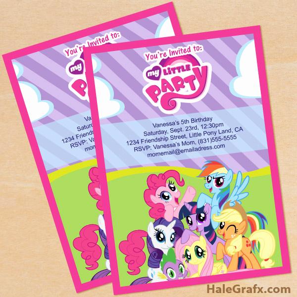 My Little Pony Invitation Elegant Free Printable My Little Pony Birthday Invitation Set