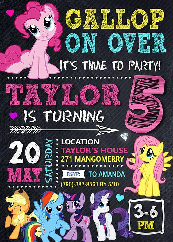 My Little Pony Invitation Fresh 23 My Little Pony Birthday Party Ideas Pretty My Party