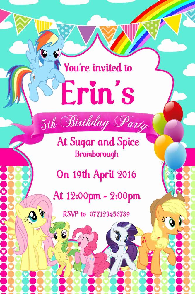 My Little Pony Invitation Fresh Best 25 My Little Pony Invitations Ideas On Pinterest