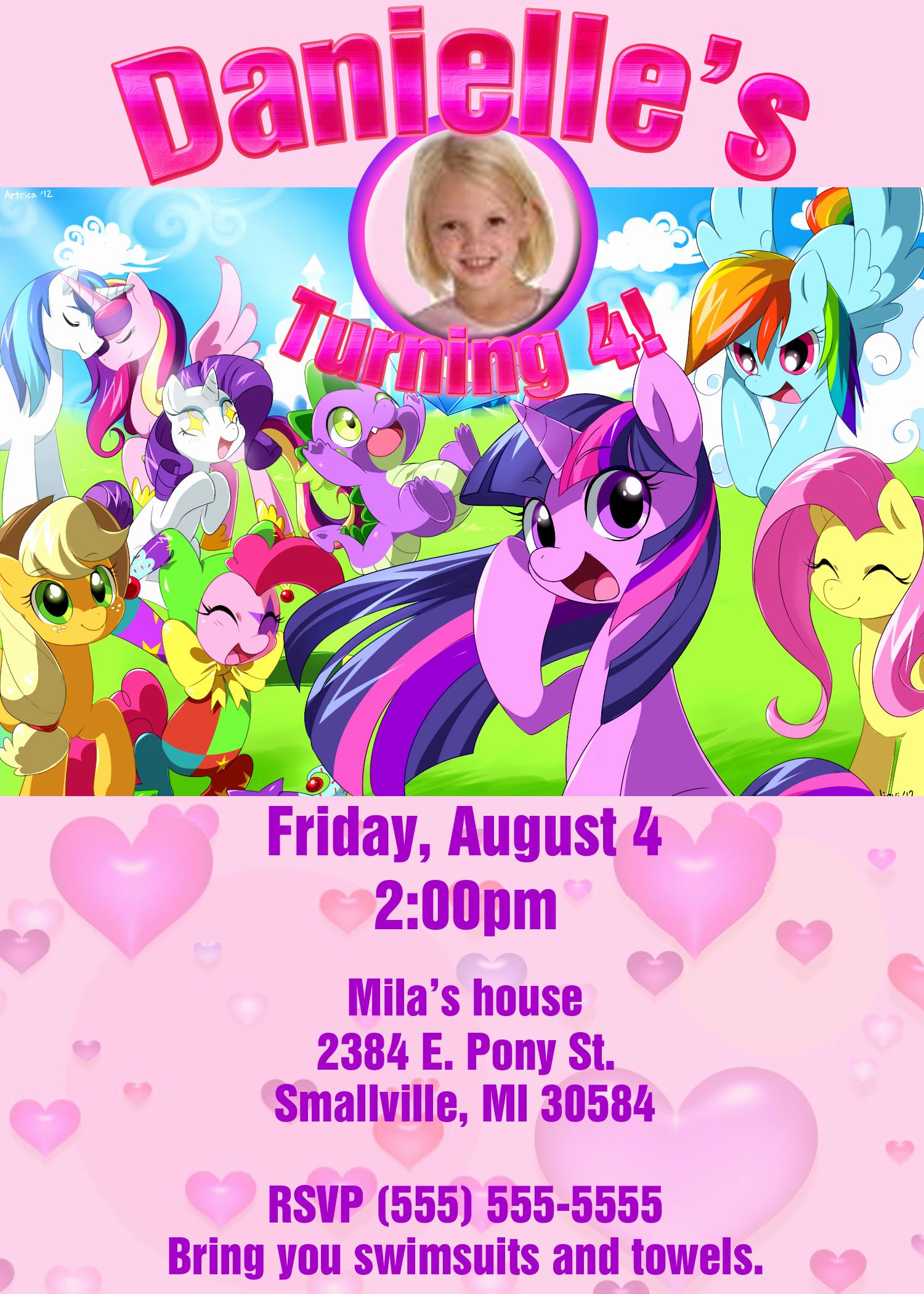 My Little Pony Invitation Fresh My Little Pony Birthday Invitation