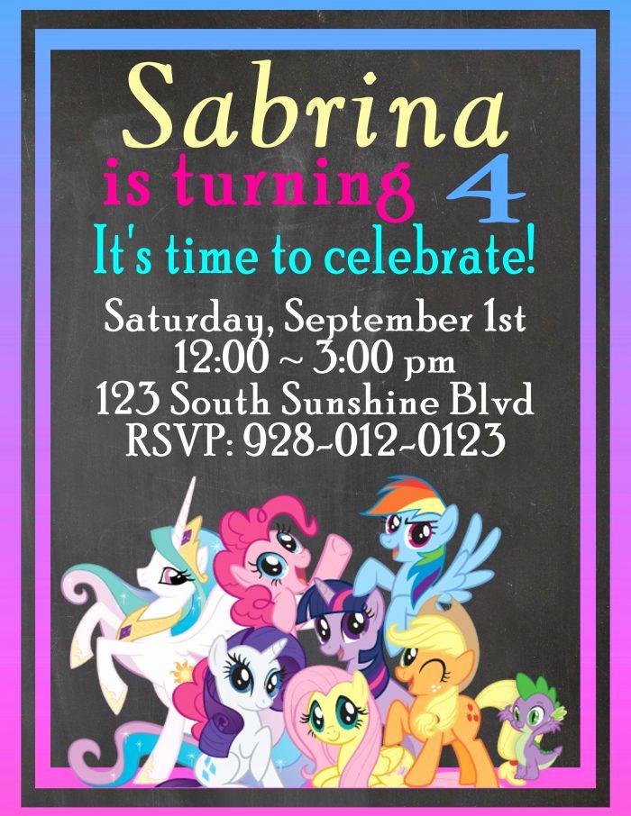 My Little Pony Invitation Fresh My Little Pony Customizable Birthday Invitations