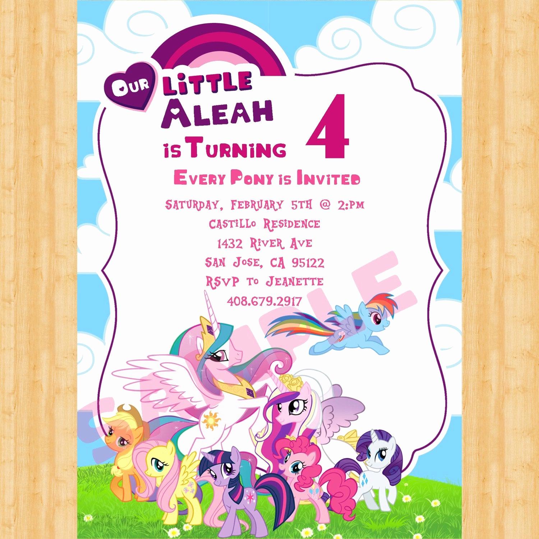 My Little Pony Invitation Fresh My Little Pony Invitation
